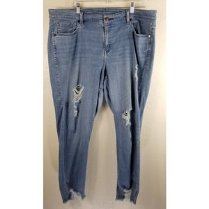 Lane Bryant Distressed Skinny Jeans 20R